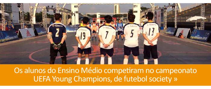 Alunos participam da UEFA Young Champions