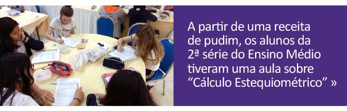 Alunos aprendem sobre cálculo estequiométrico a partir da receita de pudim