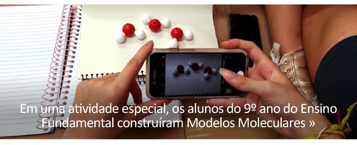 Alunos constroem Modelos Moleculares