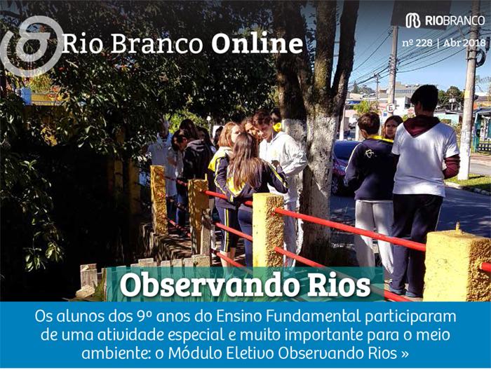 Projeto Observando Rios: palestra e análise do Rio Maicure