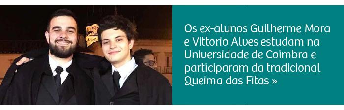 Ex-alunos estudam na Universidade de Coimbra e participam da Queima das Fitas