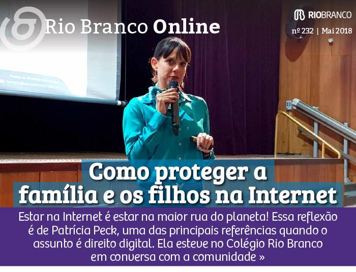 Palestra com Patrícia Peck: como proteger a família e os filhos na Internet