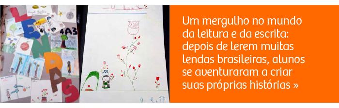 Um mergulho no mundo da leitura e da escrita: alunos criam lendas
