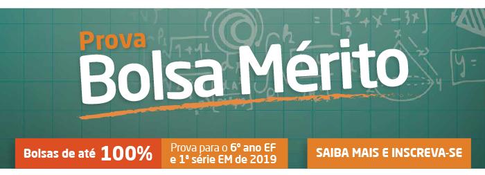 Prova Bolsa Mérito - Colégio Rio Branco 2019