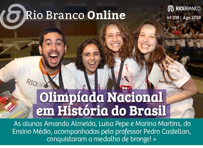 Rio Branco é finalista na Olimpíada Nacional de História do Brasil