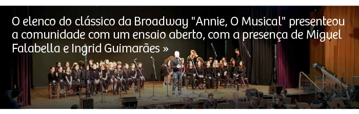 """Ensaio aberto de """"Annie, O Musical"""""""