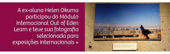 Ex-aluna participou de módulo internacional e teve fotografia exposta nos EUA