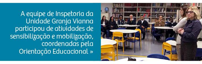 Orientadores Educacionais e Inspetoria participam de formação especial