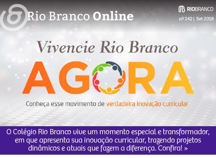 O Colégio Rio Branco vive um momento especial e transformador, em que apresenta sua inovação curricular, trazendo projetos dinâmicos e atuais que fazem a diferença. Confira!