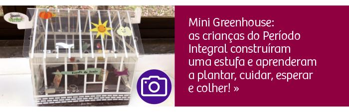 Mini Greenhouse: as crianças do Período Integral construíram uma estufa e aprenderam a plantar, cuidar, esperar e colher!