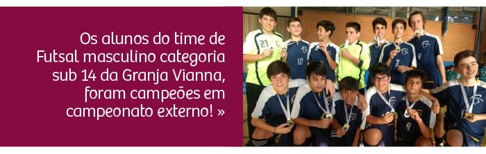 Time de Futsal é campeão em campeonato externo