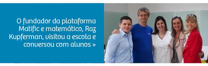 Fundador da Matific visita Colégio Rio Branco