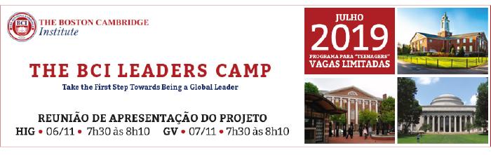 The BCI Leaders Camp - Reunião de apresentação do projeto - HIG 06/11, 7h30 - GV 07/11, 7h30