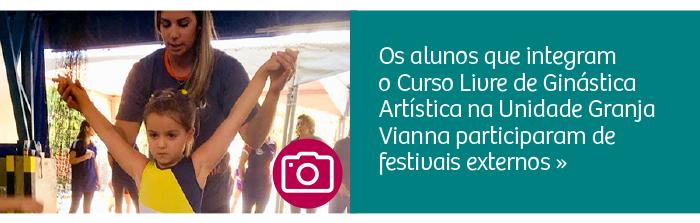 Alunos da Ginástica Artística participam de festivais externos