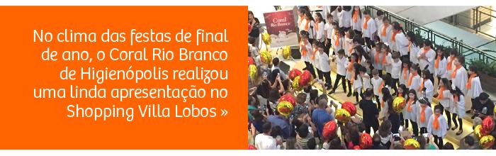 Coral Rio Branco faz linda apresentação no Shopping Villa Lobos