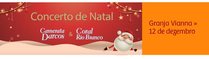 Concerto de Natal com Camerata Darcos e Coral Rio Branco