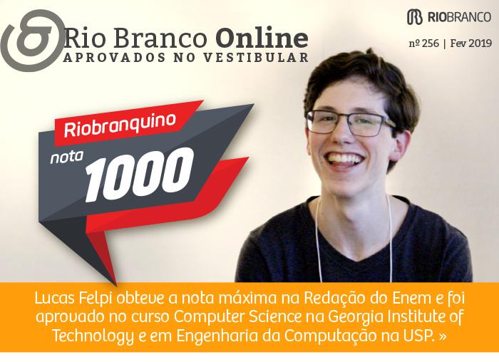 Riobranquino conquista nota máxima na Redação do Enem e já foi aprovado em universidade internacional
