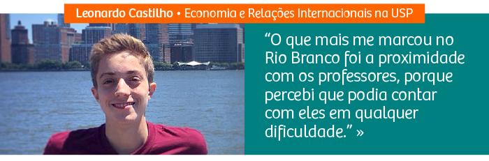 Riobranquino aprovado em Economia e Relações Internacionais na USP