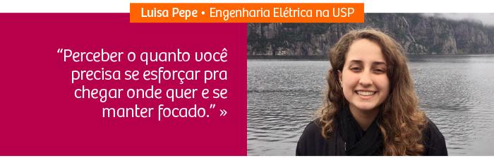 Riobranquina Luisa Pepe é aprovada na Poli-USP