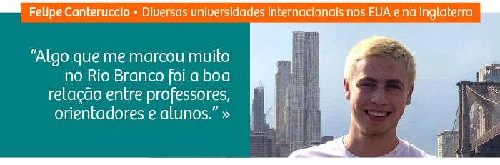Riobranquino é aprovado em sete universidades internacionais