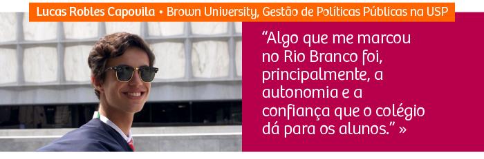 Aluno é aprovado na Brown University e em primeiro lugar em curso da USP e da FGV
