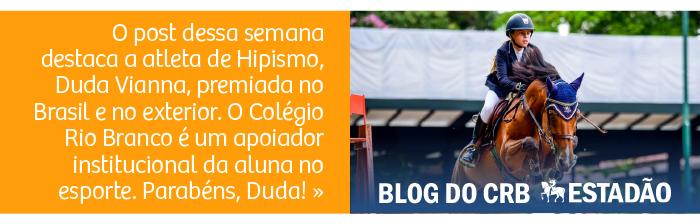 Colégio Rio Branco apoia aluna e atleta da Confederação Brasileira de Hipismo, Duda Vianna