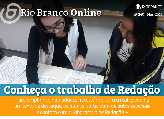 Conheça o trabalho de Redação no Colégio Rio Branco