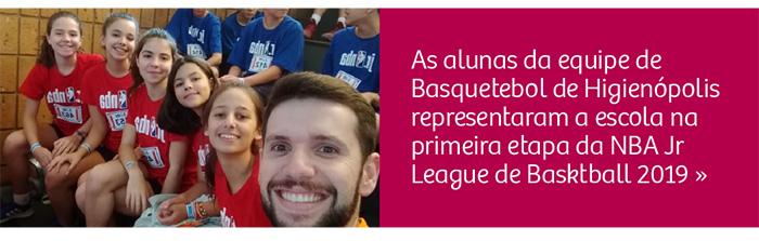 Alunas participam da NBA Jr League de Basktball 2019