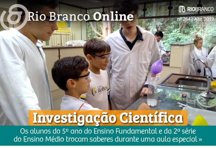 Investigação Científica: alunos do Ensino Médio e do Fundamental trocam saberes