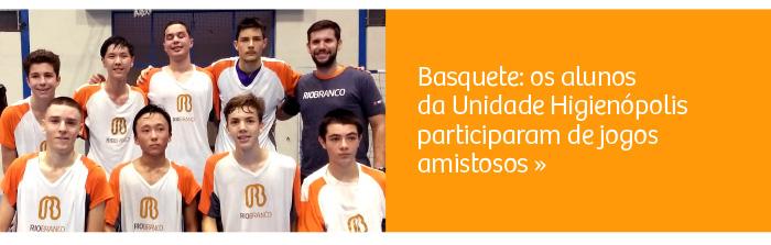 Basquete: alunos participam de jogos amistosos