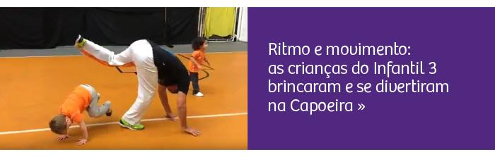 Brincadeira, ritmo e movimento: alunos aprendem sobre a Capoeira