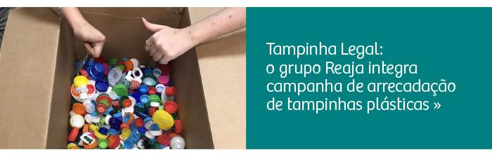 Reaja coleta tampinha plástica para o programa Tampinha Legal