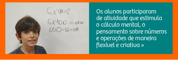 Pense no Dez: atividade de Matemática estimula o cálculo mental
