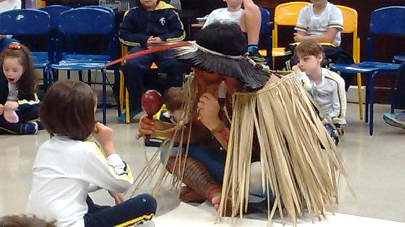 Visita do índio Kleykeniho da tribo Fulni-ô