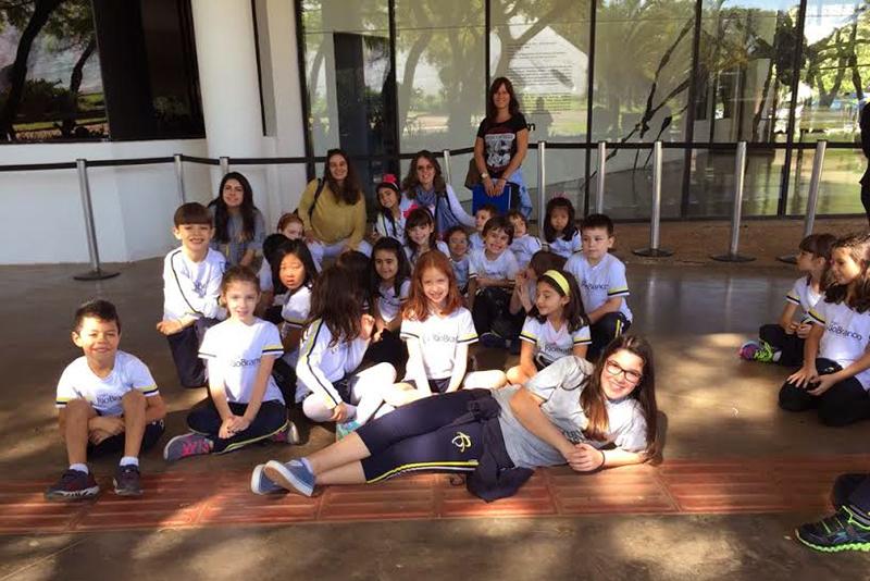 Os alunos visitaram a exposição da artista Anita Malfatti, no Museu de Arte Moderna de São Paulo
