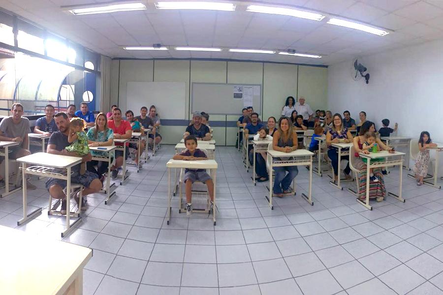 Um dia muito especial! A Unidade Granja Vianna recebeu os formandos da turma de 2000 em um momento de integração.