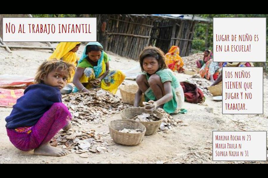Alunos debatem o trabalho infantil em aula de Espanhol