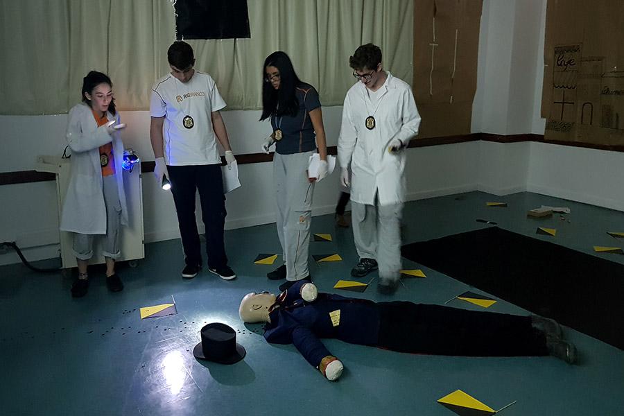 CSI Rio Branco: atividade promove simulação da perícia criminal