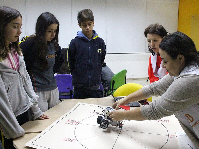 Tecnologia e Matemática: alunos aprendem sobre translação, reflexão e rotação