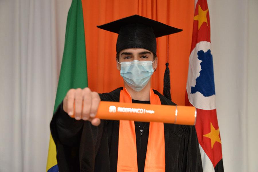 Colação de Grau do 9° ano do Ensino Fundamental da tuma de 2020 - Granja Vianna