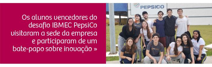 Alunos visitaram a PepsiCo e participam de bate-papo sobre inovação