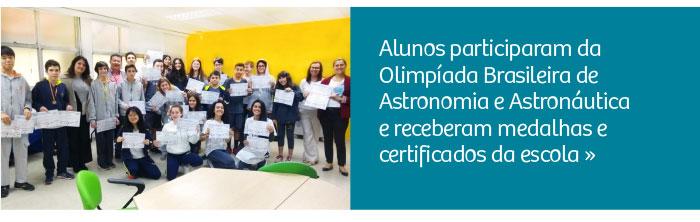 Alunos participaram da Olimpíada Brasileira de Astronomia e Astronáutica
