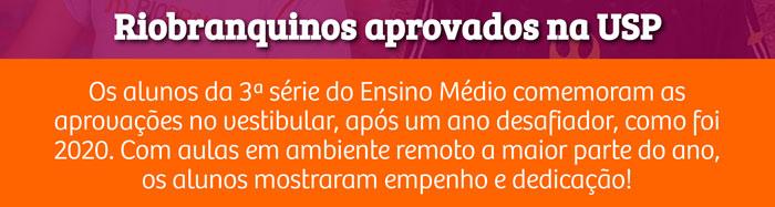 Riobranquinos aprovados na USP