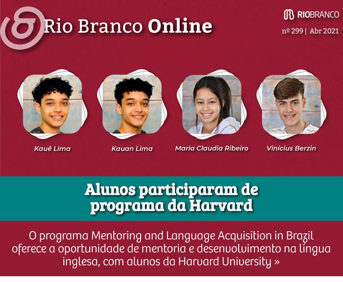 Alunos do Ensino Médio participam de programa da Harvard