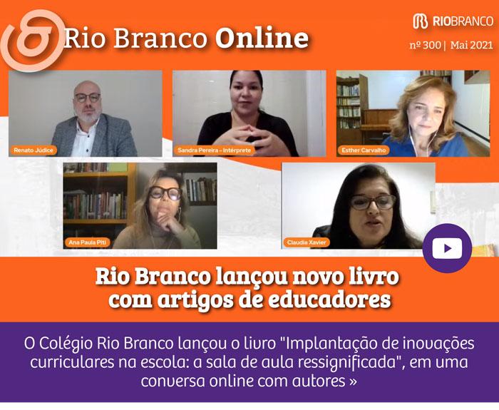 Rio Branco lança novo livro com artigos de educadores