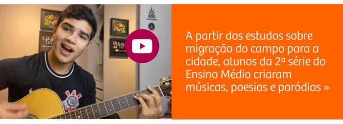Ao estudar a migração do campo para a cidade, alunos criam músicas, poesias e paródias